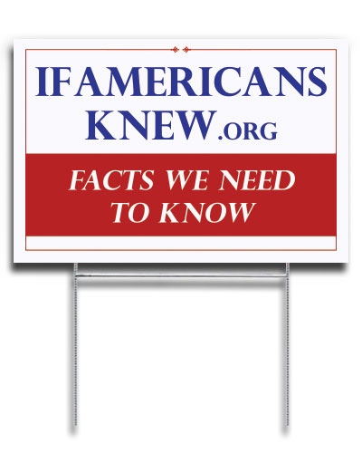 Facts We Need To Know - Yard Sign