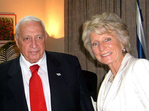 Jane Harmon with former Israeli PM Ariel Sharon