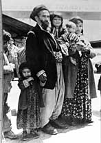 An Iraqi Jewish family arrives in Israel in 1949.