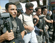Photo of Palestinian journalists.