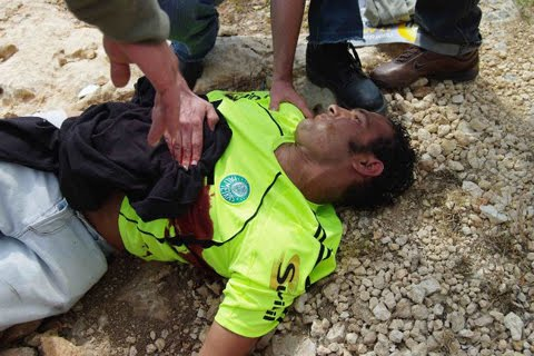 Thirty-year-old Basem Ibrahim Abu Rahmeh died when an Israeli soldier shot a teargas canister at him while Abu Rahmeh participated in a demonstration against Israeli confiscation of Palestinian farmland.