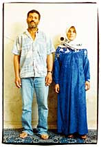 Photo of a Palestinian couple, Daoud and Rula, who lost a baby, when Rula was forced to give birth at an Israeli checkpoint.